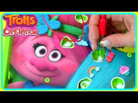 TROLLS Operation Game!  NEW Hasbro Toys!  Operation TROLLS Dreamworks Game with Poppy & Branch!