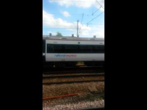 C2C train at speed at dagenham heathway station uk