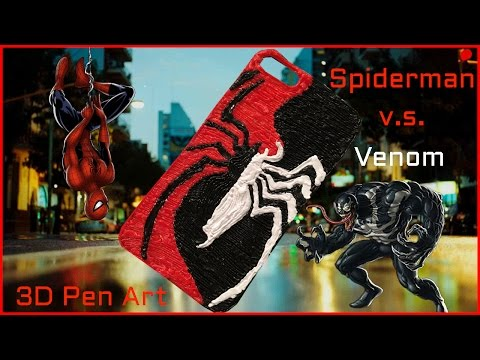 Creating Spiderman & Venom's Spider Logo  | 3D Pen Phone Case | 3D Pen Art
