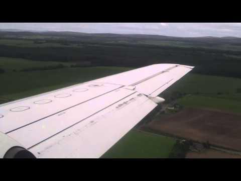 Flybe Saab 340  Inverness Landing