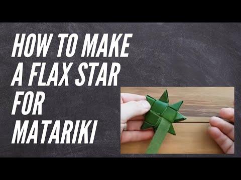 Raranga Christmas Star - how to make a Christmas star out of flax