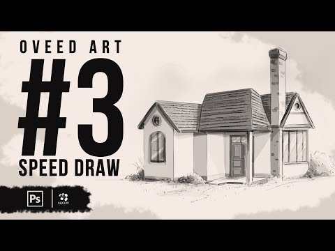 Speed Drawing in Photoshop - Basics to storyboard background | Part 3