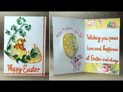 Handmade Easter Greeting Card - Quilling Card for Easter