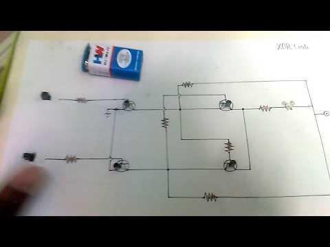 XOR logic gate using transistor.