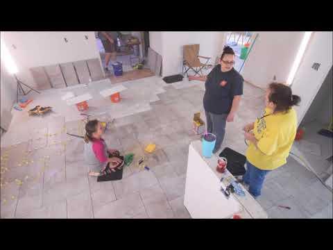 DIY  KITCHEN LARGE FORMAT TILES