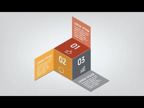 Illustrator Tutorial | 3D Info Graphic (Cube)