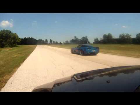 [HD] 505hp Corvette Z06 vs 2.3L Stroker Evo 8 - Racetrack Chase