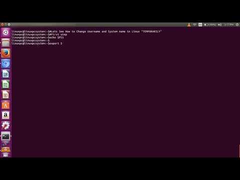 How to Change Username and Machine name in Linux(Ubuntu 16.04)