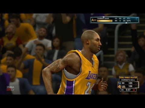 NBA 2K13 My Career Playoffs SFG3 - Kobe Bryant Double Dribbles