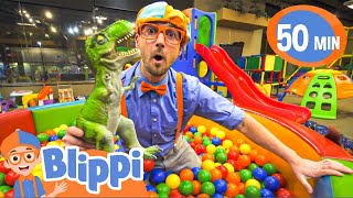 Blippi Explores An Indoor Play Place For Kids | Learn Colors and Numbers for Children
