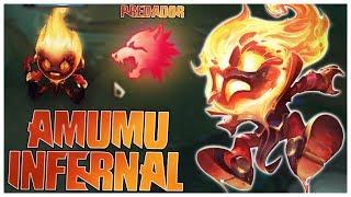 SKIN INFERNAL DO AMUMU É MUITO FODA - USEI PREDADOR E SOLEI O ADC 2 VEZES - League of Legends - Fiv5