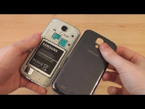 How to Open Samsung Galaxy S4 Back Cover - Insert Battery, SIM, Replace Back Cover