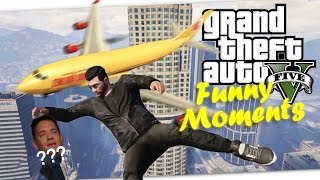GTA 5 Funny Moments - Skydiving Stunts and Random Fails (Director Mode/Online/Story)