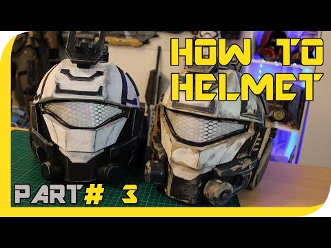 HOW TO:  TITANFALL 2 Pulse Blade Pilot helmet Cosplay prop - Part 3