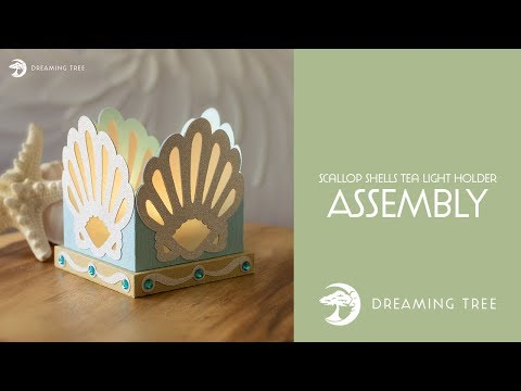 Free SVG - Scallop Shells Tea Light Holder - Assembly Tutorial
