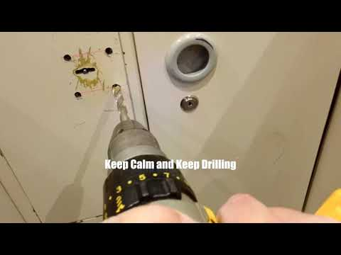 Drilling Open A Safe