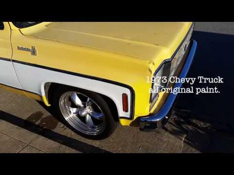 1973 Chevy truck dent repair