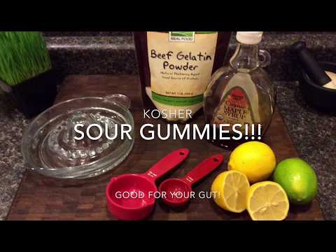 Homemade Kosher gummy candies