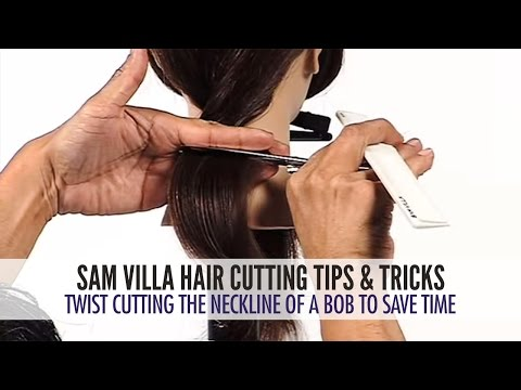 Twist Cutting The Neckline of a Bob To Save Time