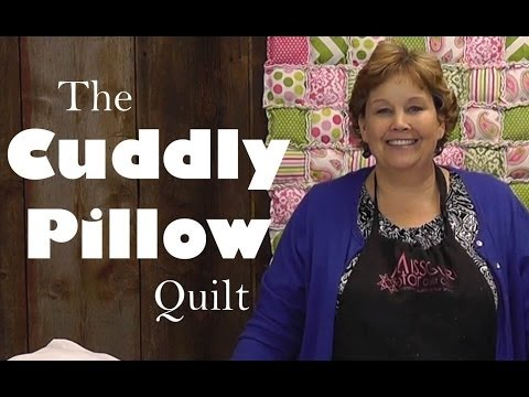 Make a Soft Pillow Quilt!  Quilting with Cuddle Cloth (Minky Fabric)