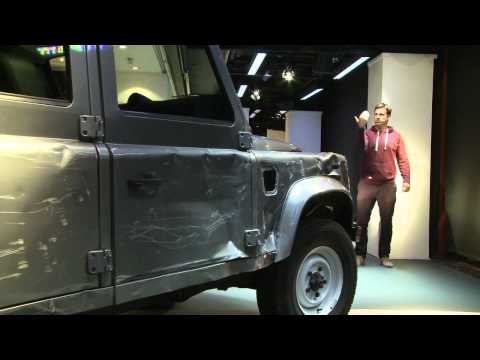 Skyfall Land Rover in Harrods window installation