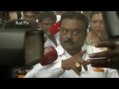 Tamil Nadu Election 2016 - Vijayakanth Getting Angry At Polling Booth - Vijayakanth Comedy