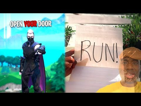 A Fortnite Hacker Sent this to my Front Door... Hackgod needs to be stopped...