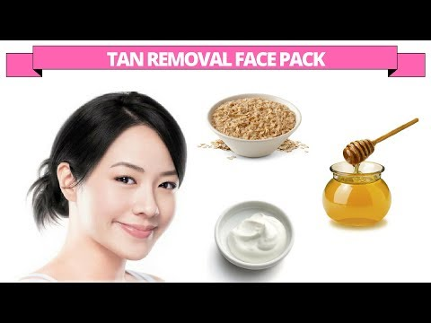 Tan removal face pack with oatmeal, yogurt & honey