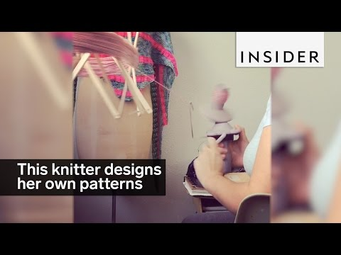 This knitter designs her own knitting patterns