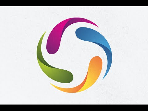 illustrator tutorial - how to create a 3D Logo Design With Gradient Color Using Circle ideas