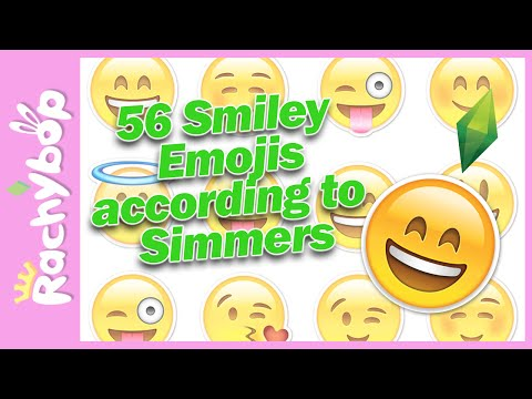 56 Smiley Emojis according to Simmers!