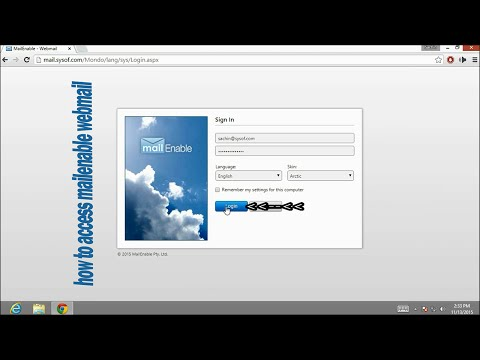 How to access mailenable webmail