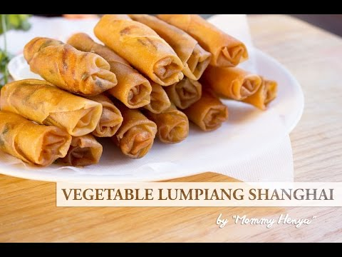 How to make Vegan Lumpiang Shanghai (fried savory sweet Filipino spring rolls)