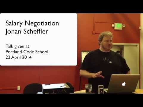 Salary Negotiation with Jonan Scheffler