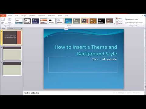 How to Add a Theme and Background Style in PowerPoint - Beginners Guide