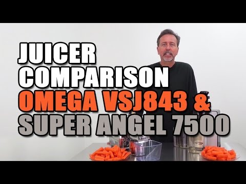 Omega VSJ843 & Super Angel Pro 7500 Juicers Compared