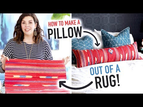 How to Make a Pillow out of a Rug! - HGTV Handmade