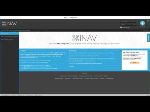 Install INAV Configurator and flash INAV firmware to flight controller