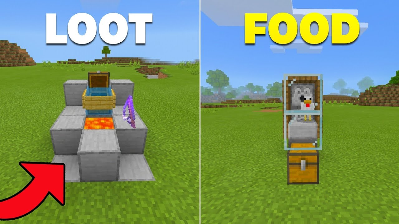 7 EASY Automatic Farms for Beginners in Minecraft Bedrock 1.17!