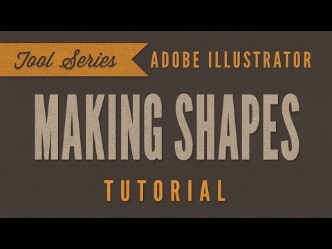 Adobe Illustrator CS6 CC Tutorial *BEGINNER* - How To Make Shapes