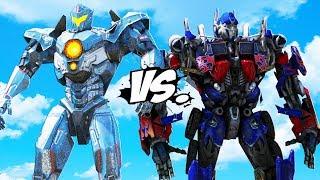 PACIFIC RIM vs TRANSFORMERS - Optimus Prime VS Gipsy Avenger