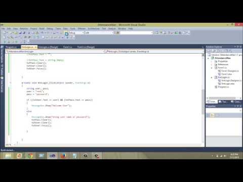 Creating Login Form in C# (Windows Application)