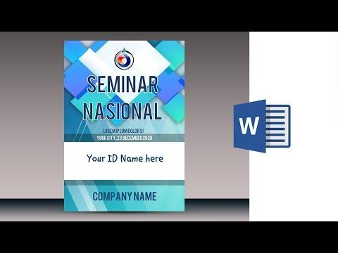 Cara membuat Name Tag, ID Card di Ms Word 2010
