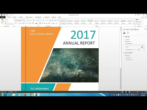 How to Make a Cover Page Design for Report and Book in Microsoft Word