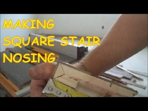 How to Make a Square Stair Nosing out of Prefinished Hardwood Floor MrYoucandoityourself