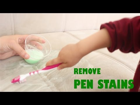 How to remove pen stains easily -  simplekidscrafts