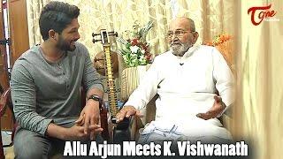 Allu Arjun Meets K Vishwanath || Dada Saheb Phalke Award