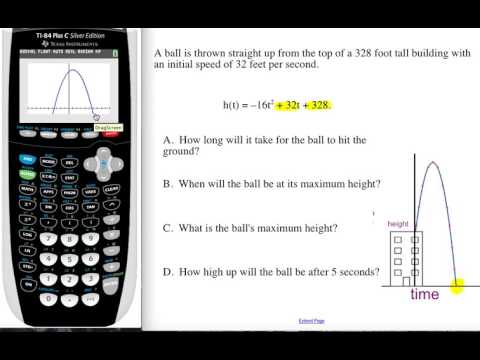 Vertical Motion: Parabolas & the Graphing Calculator