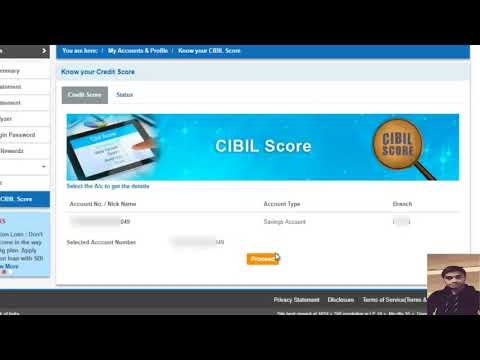 How to know CIBIL Score for loan purpose in SBI Internet Banking