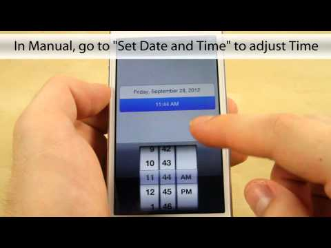 How to Set Date and Time on the Apple iPhone 5